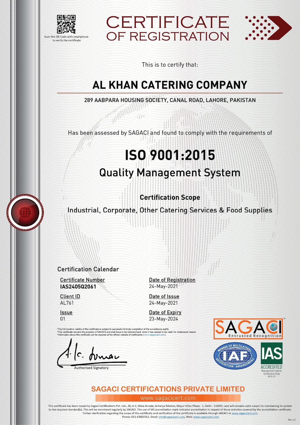 SAGACI Certification